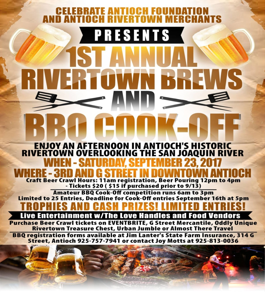First Annual Antioch Rivertown Brews and BBQ Cook-Off