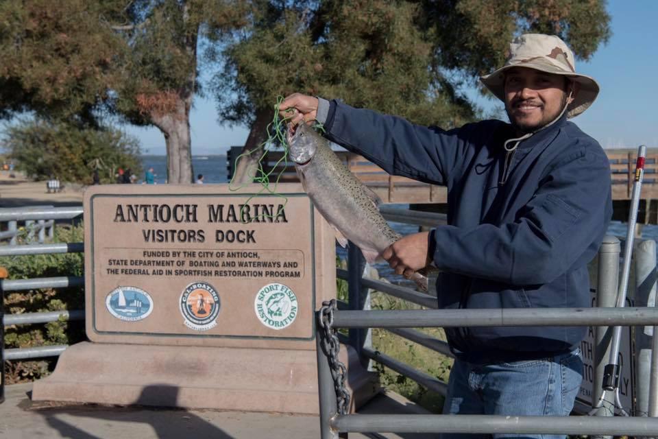 Salmon Fishing at the Antioch Marina