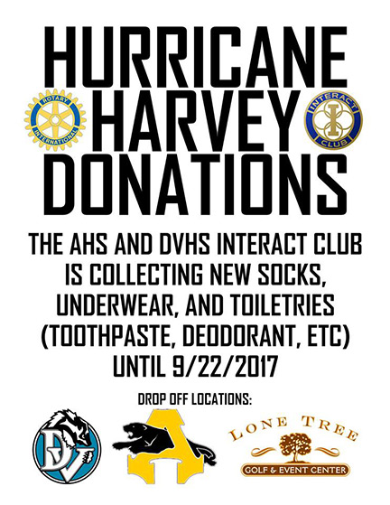 Antioch Rotary Hurricane Harvey Donations