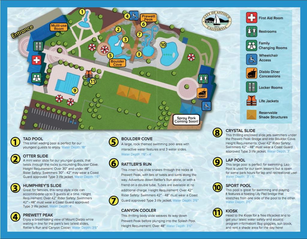 Antioch Water Park Map