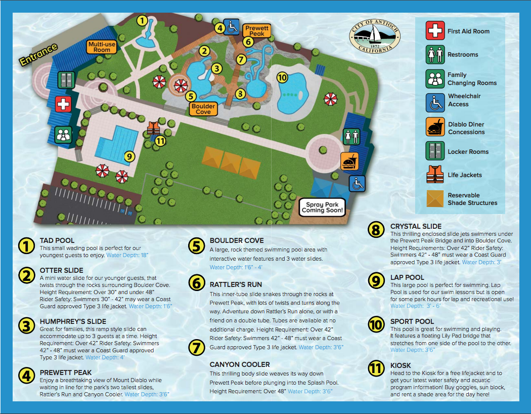 Antioch Water Park Map - Antioch on the Move