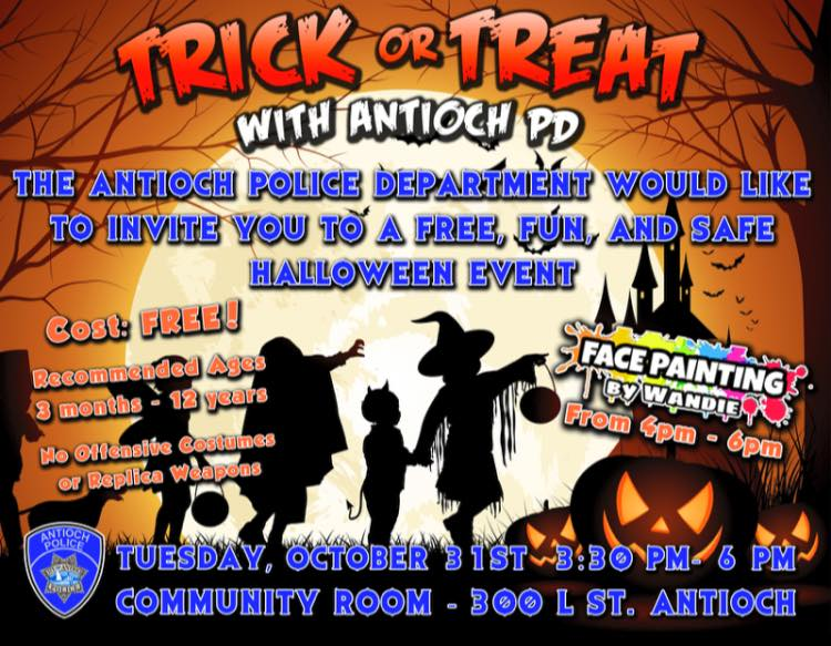 Trick or Treat with Antioch Police Department