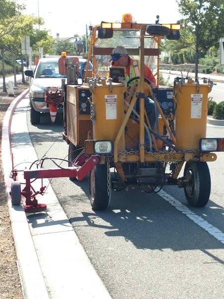 Public Works Making Street Improvements