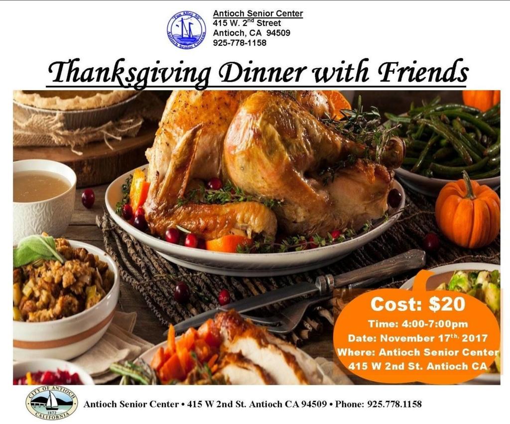 Thanksgiving at the Senior Center