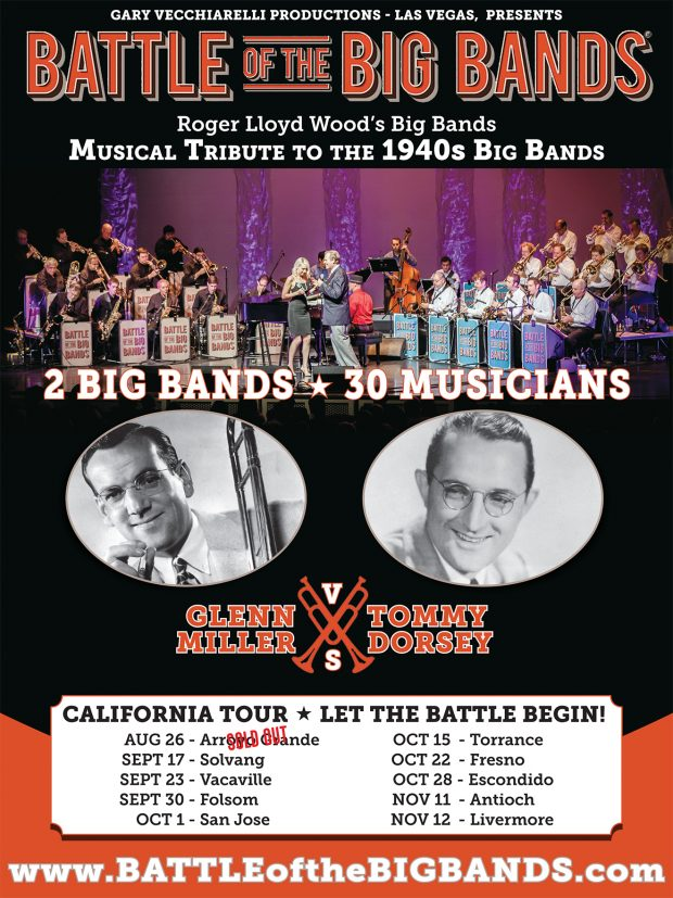 Gary Vecchiarelli Productions – Las Vegas presents: 30 MUSICIANS – 2 BIG BANDS 1940s Battle of the Big Bands