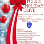 APD Holiday Food Drive Form Due