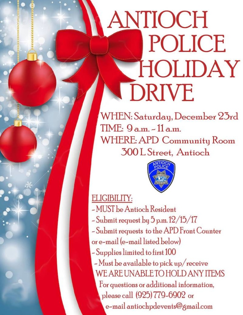Antioch Police Department Holiday Food Drive