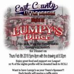 Lumpy's Diner - East County Little League Fundraiser