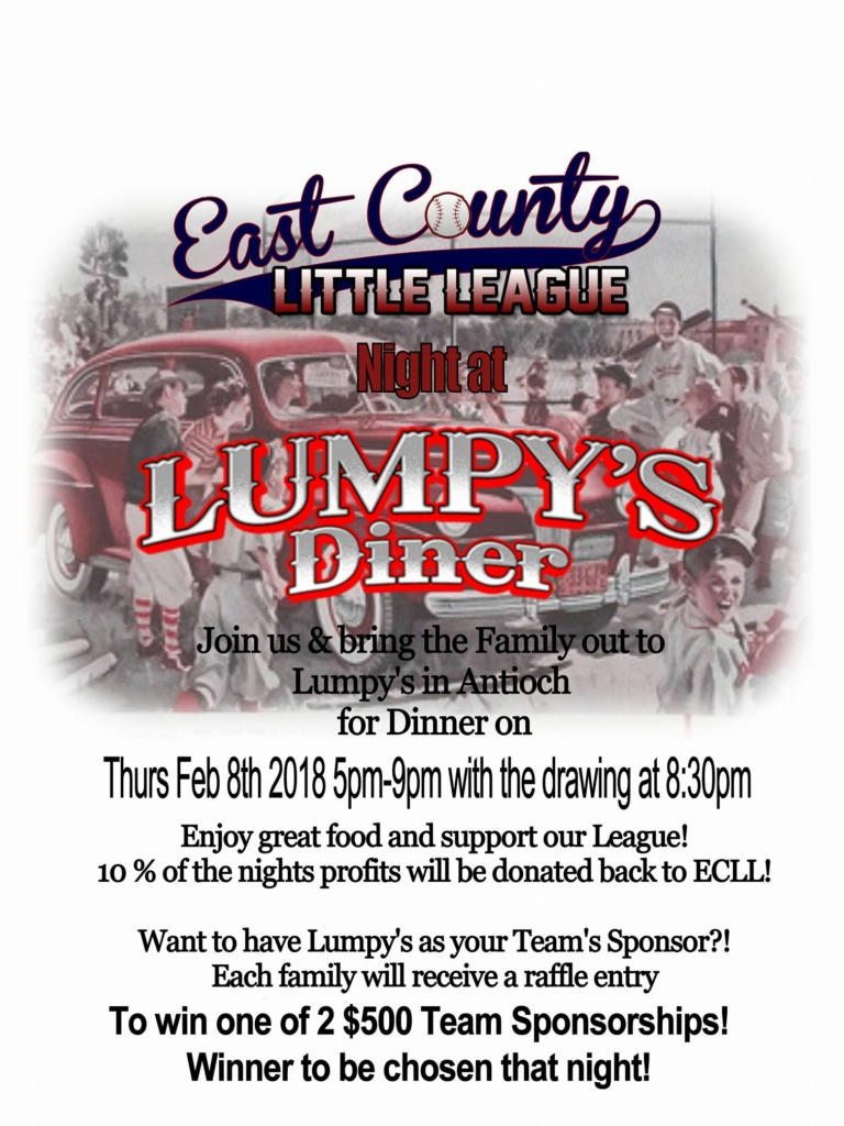 East County Little League Fundraiser