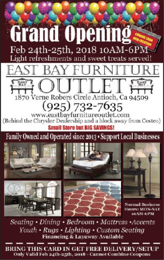 East bay furniture outlet grand opening antioch on the move