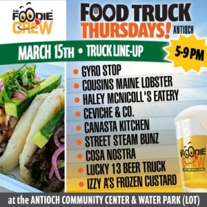 Food Truck Thursday March 15 Lineup