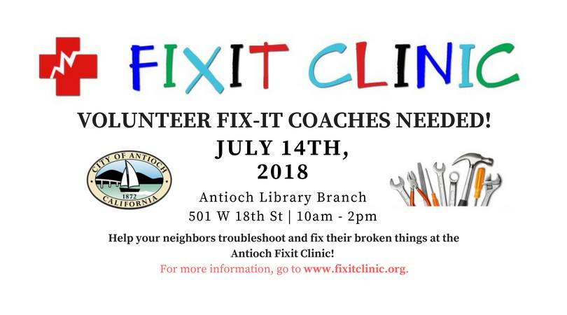 antioch fixit clinic