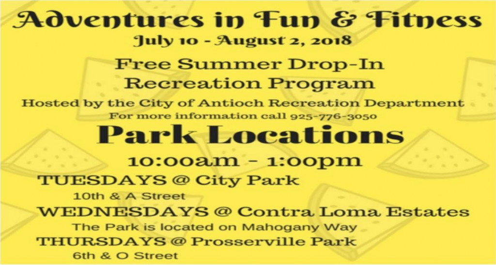 Drop In Summer Camp Antioch