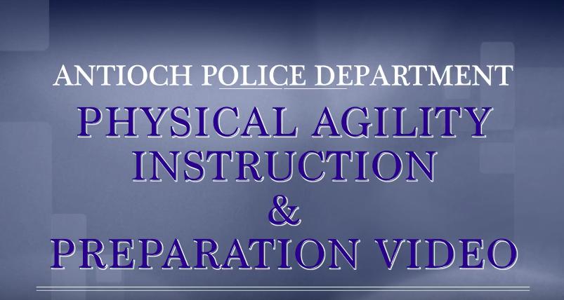 Antioch Police Physical Agility