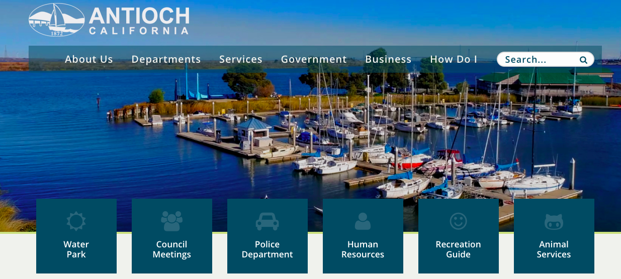 City of Antioch New Website