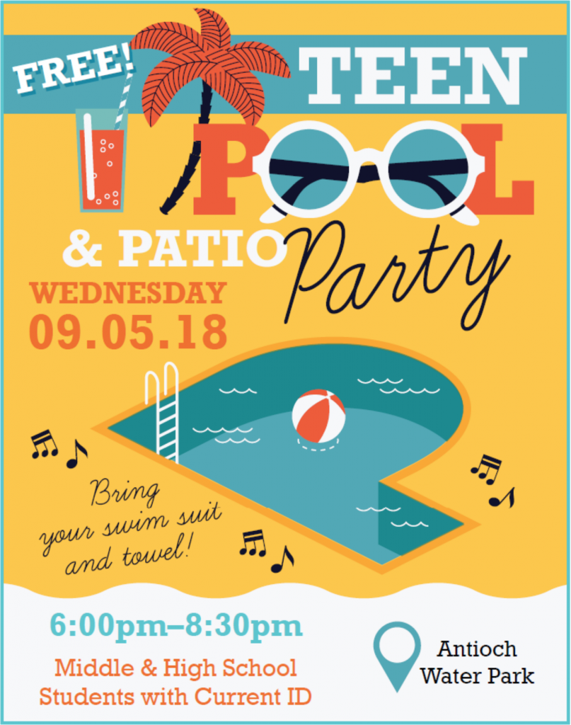 Antioch Water Park Teen Pool Party