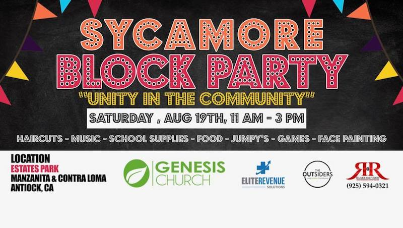 Sycamore Block Party Poster