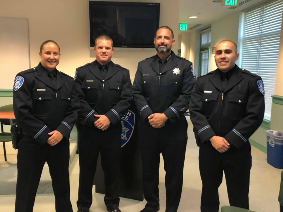 Officer Ashley Allen, Officer Erik Nilsen, Chief Of Police Brooks, Officer Arturo Becerra