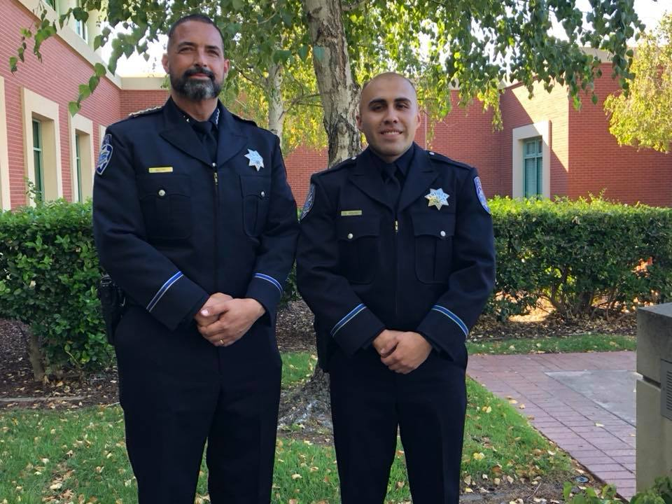Antioch Chief Of Police Brooks and Officer Arturo Becerra