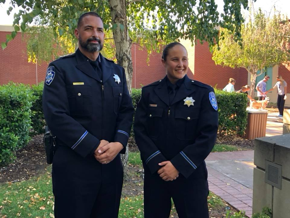 Antioch Chief of Police Brooks and Officer Ashley Allen