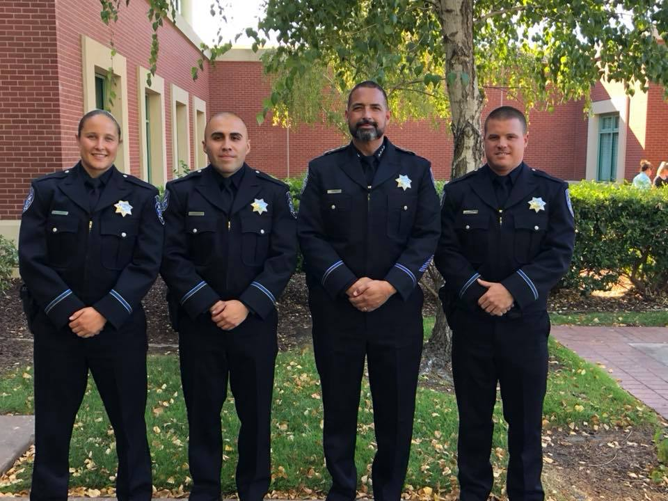 Officer Ashley Allen, Officer Arturo Becerra, Chief Of Police Brooks, Officer Erik Nilsen