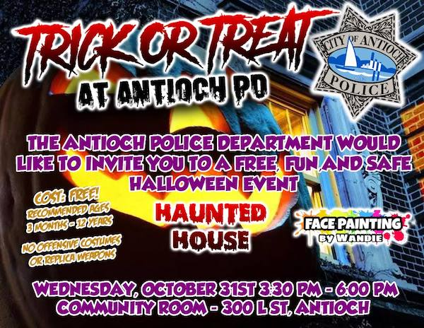 Trick or Treat Antioch Police Department