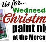 The G St. Mercantile Christmas Wine Glass Paint Night!