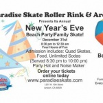 New Years Eve Beach Party Family Skate