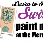 The G St. Mercantile Swirls Wine Glass Paint Night!