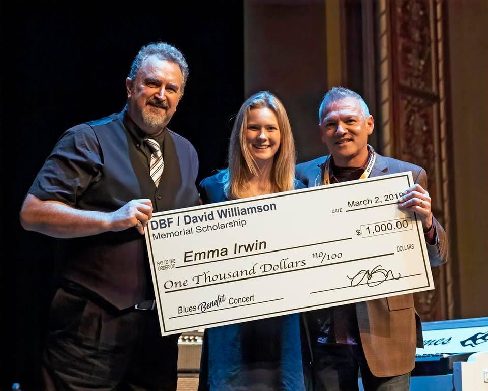 Emma Irwin Receiving Memorial DBF/David Williamson Scholarship