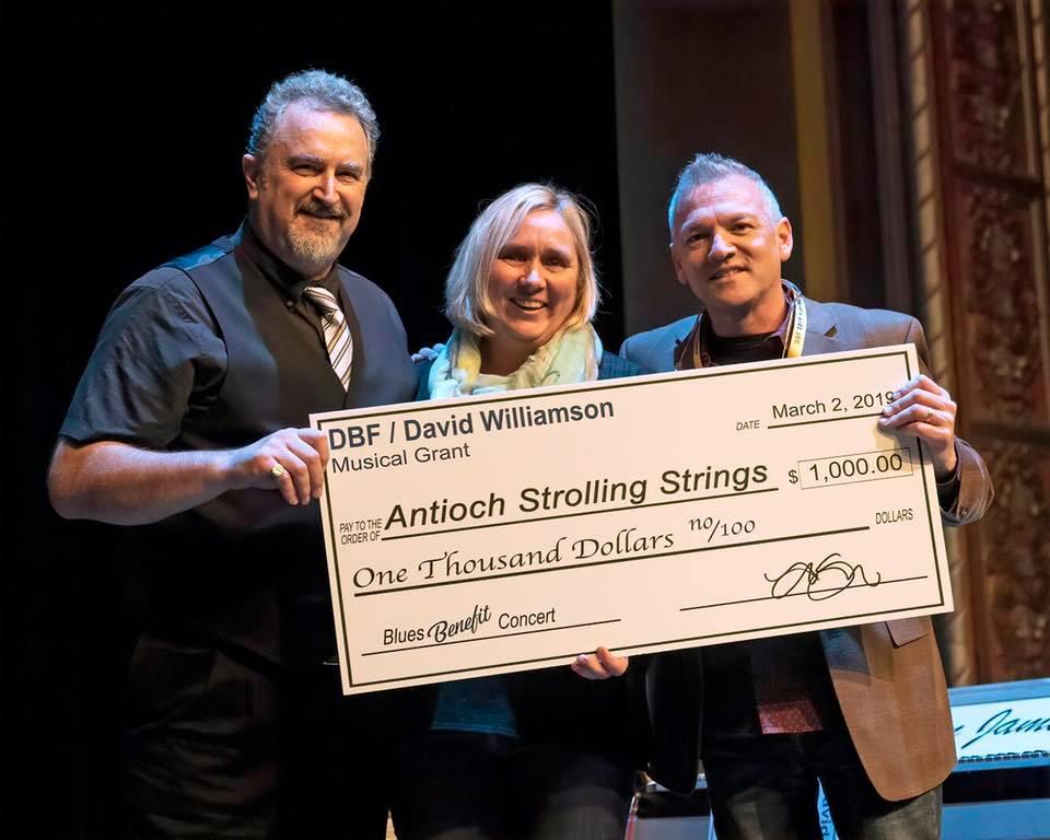 Antioch Strolling Strings Receiving Memorial DBF/David Williamson Scholarship