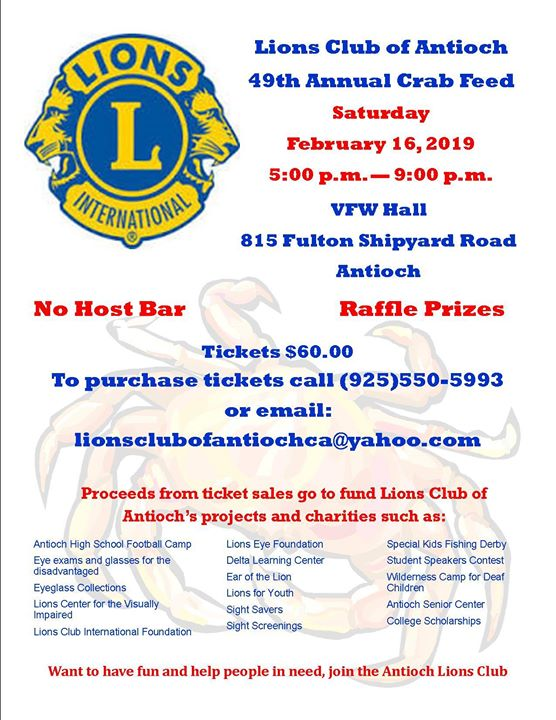 49th Annual Crab Feed - Antioch on the Move