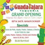 Guadalajara Taqueria Grand Opening