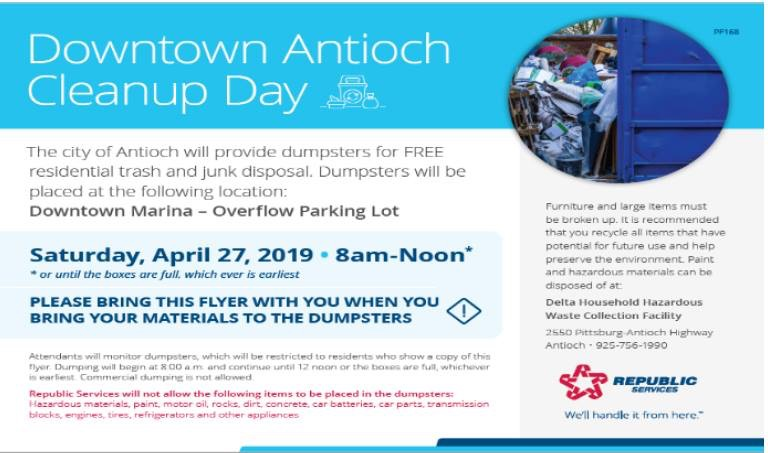 Downtown Antioch Cleanup