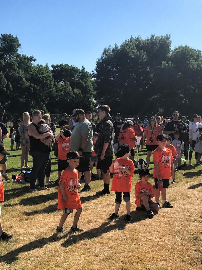 Antioch Jr Giants Team At The Park