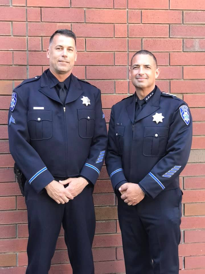 Antioch Sergeant Rick Hoffman and Chief Of Police Brooks