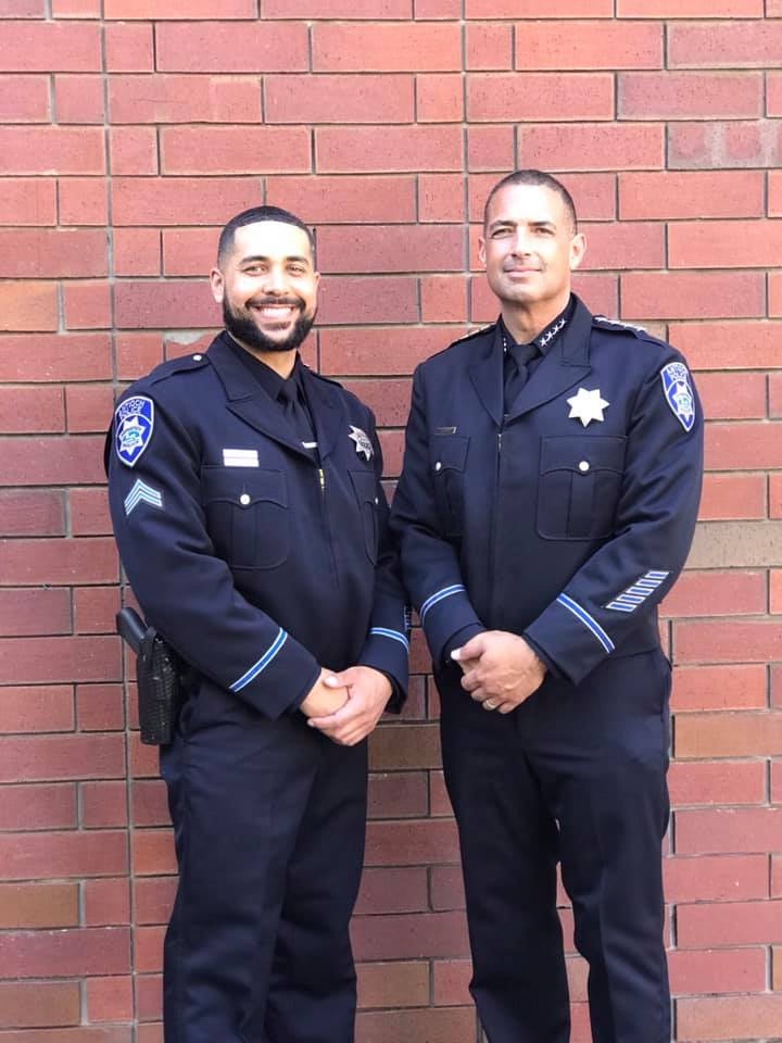 Antioch Police Officer Matthew Nutt and Chief Of Police Brooks