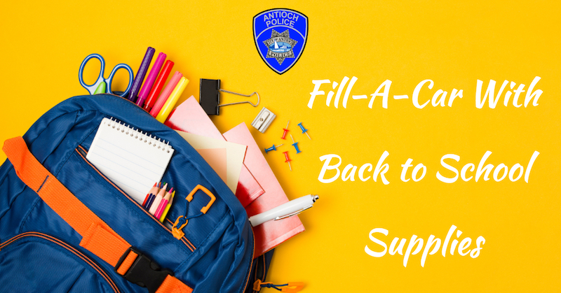 Fill a Car - Antioch Police Department