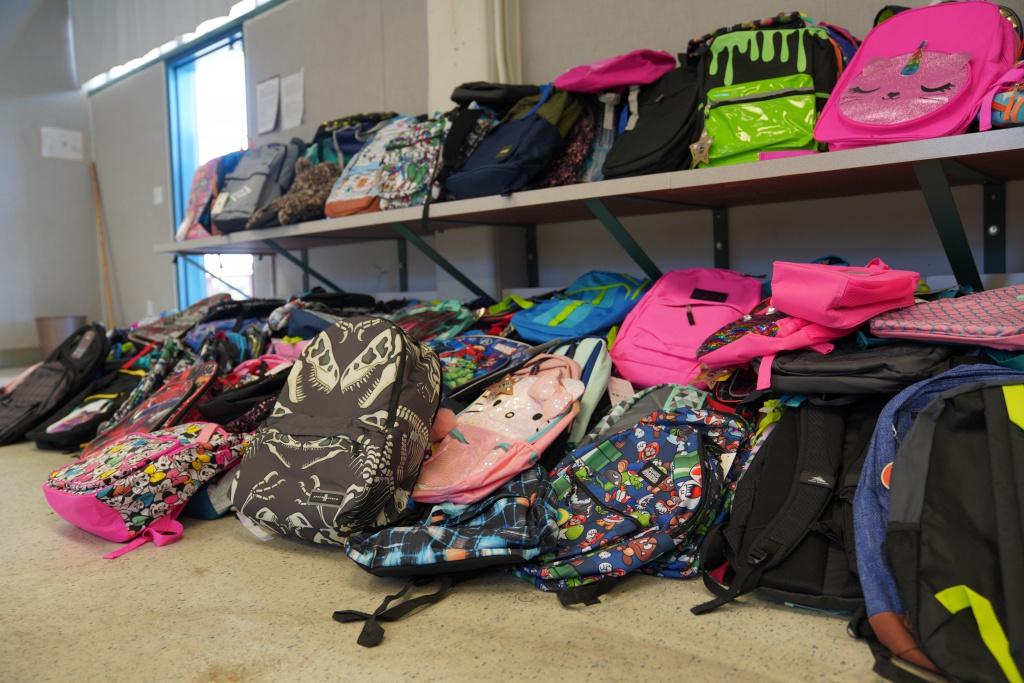 Donated School Backpacks