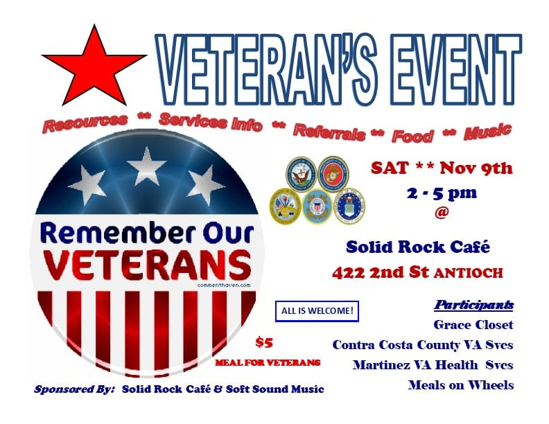 Veteran's Event - Solid Rock Cafe