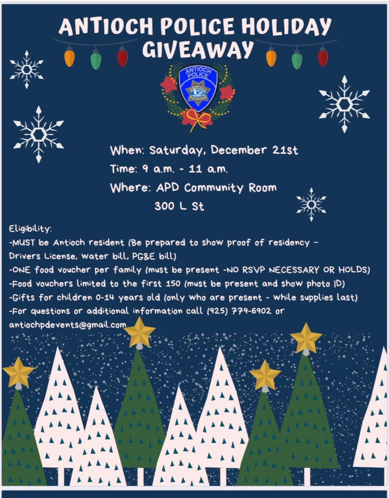 Antioch Police Holiday Giveaway