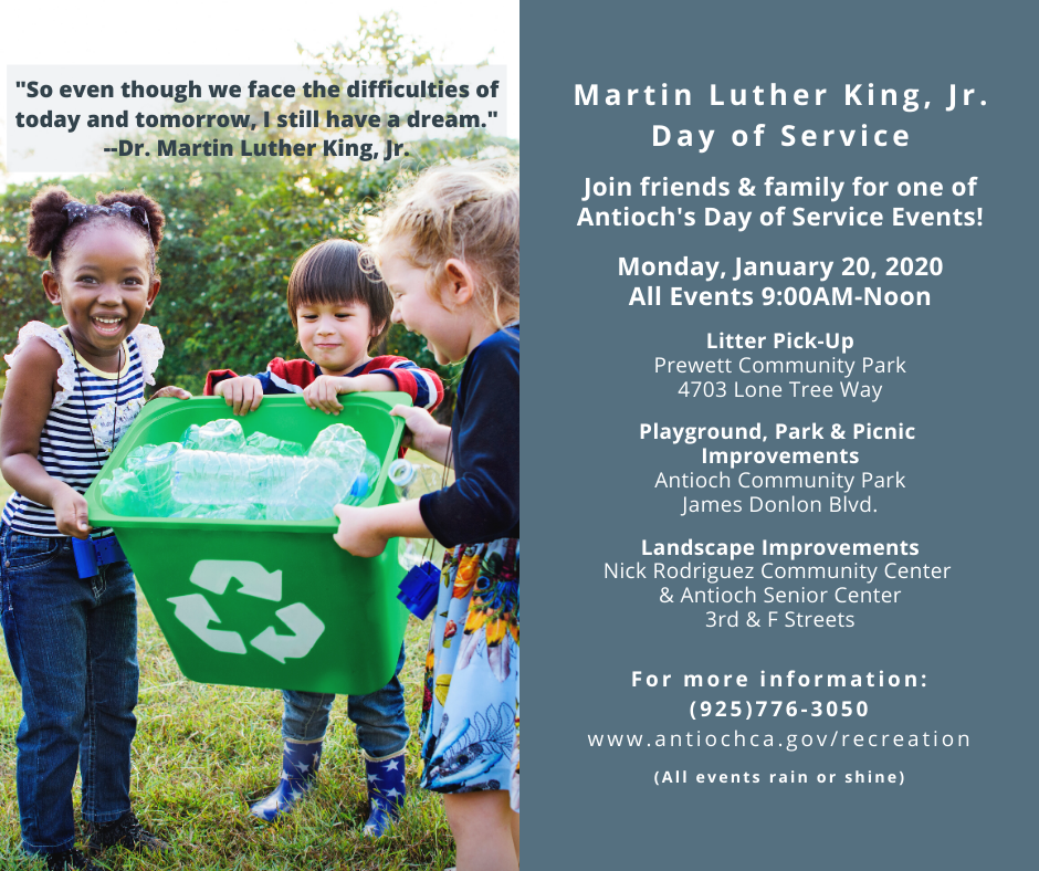 Antioch Hosts Day of Service Poster