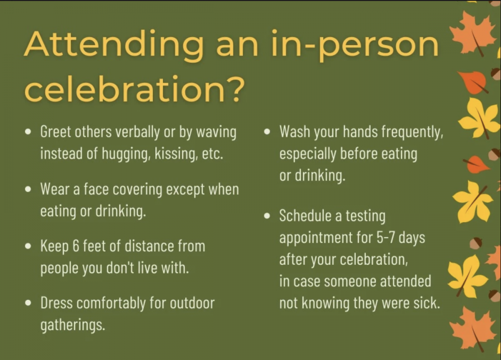 Covid 19 - Attending an in-person celebration