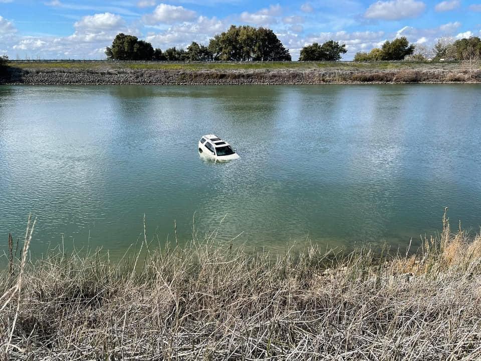 Crashed Vehicle In Sacramento River